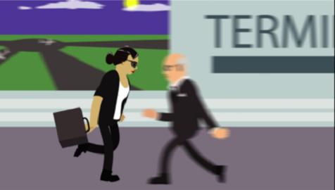 slip in airport image