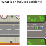 Training screenshot of induced accident