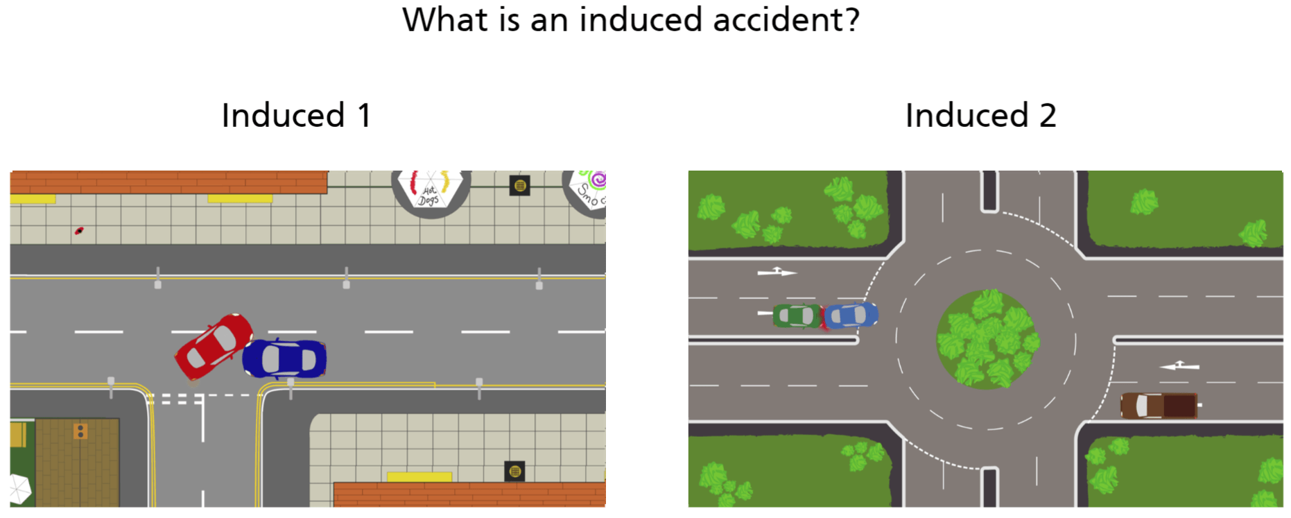 induced accident training screenshot