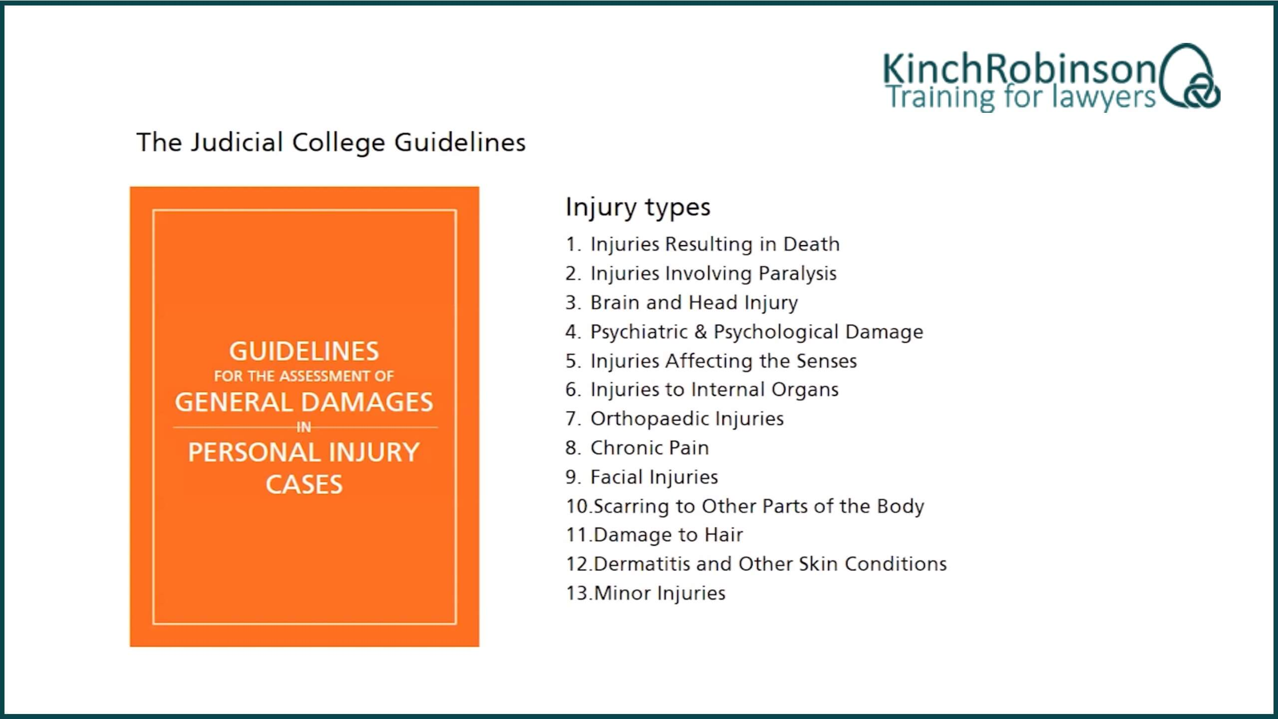 Using the Judicial College Guidelines to calculate compensation for psychological injury