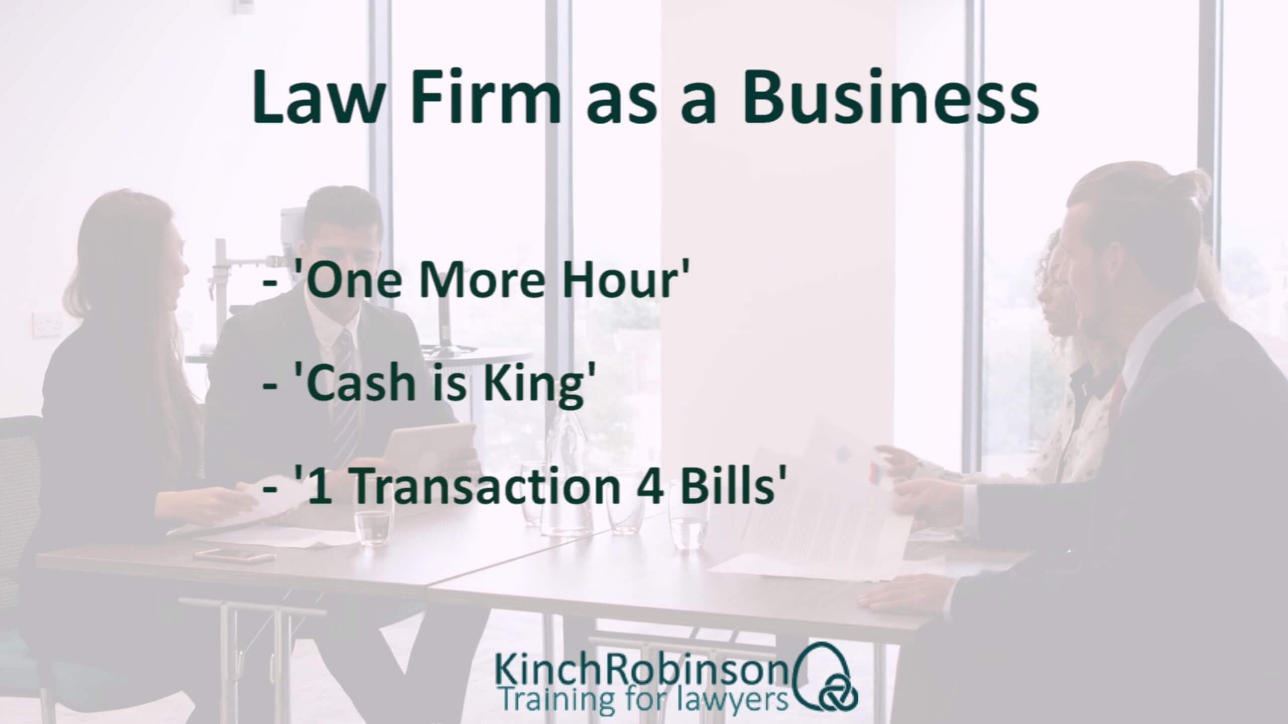 Law firm as a business training slide