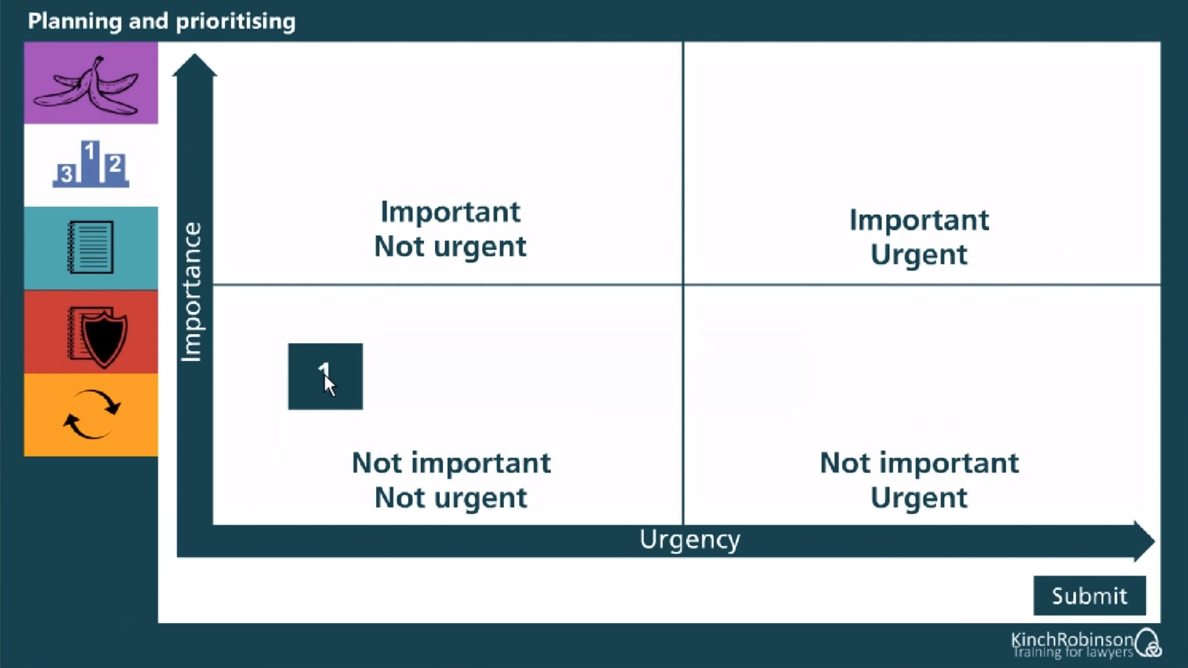 Planning and Prioritising Training for Lawyers screenshot