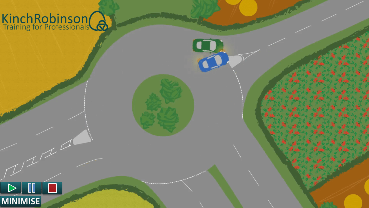 roundabout liability scenario training