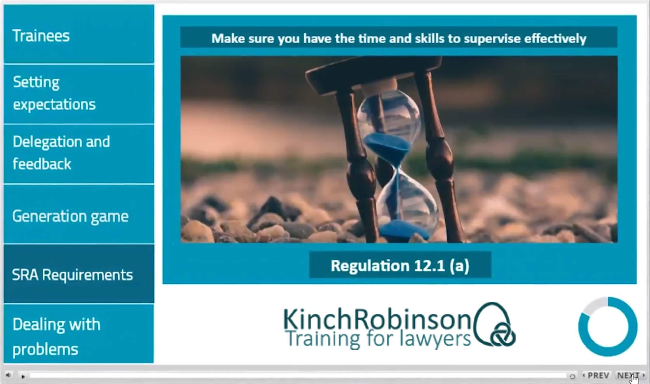 Supervising Trainee Solicitors Training Screenshot